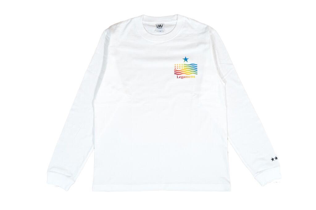 【star logo rainbow long sleeve】