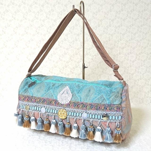 ジプシースカートバッグ【癒しのブルーグリーン】