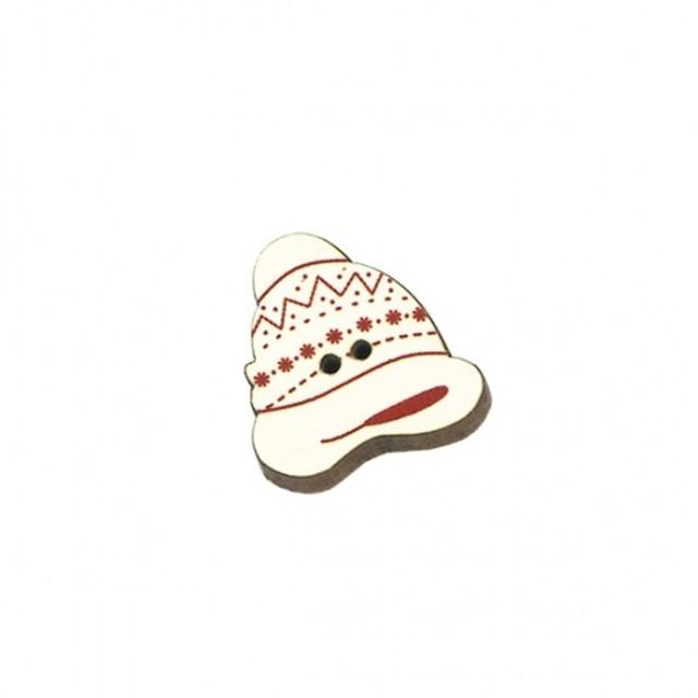 クリスマス 木製ボタン アトリエ ボヌール ドゥ ジュール 【キャップ・アイボリー】