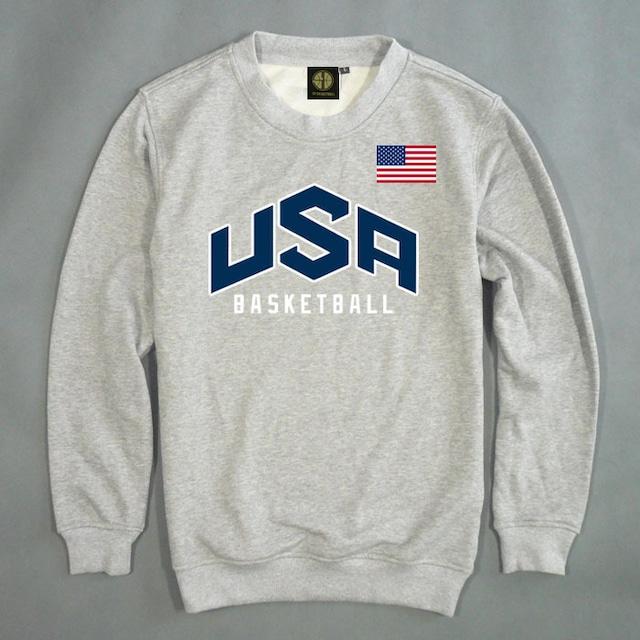 USAバスケットボールロゴスウェット M-2XL