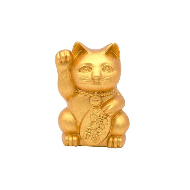 《招き猫 》Manekineko Platinum Gold leaf