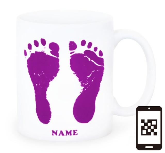 ai mug-white   A-type (PURPLE) QRコード付き