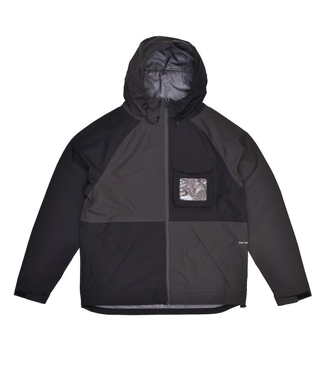 POP TRADING COMPANY ORACLE JACKET BLACK/ANTHRACITE