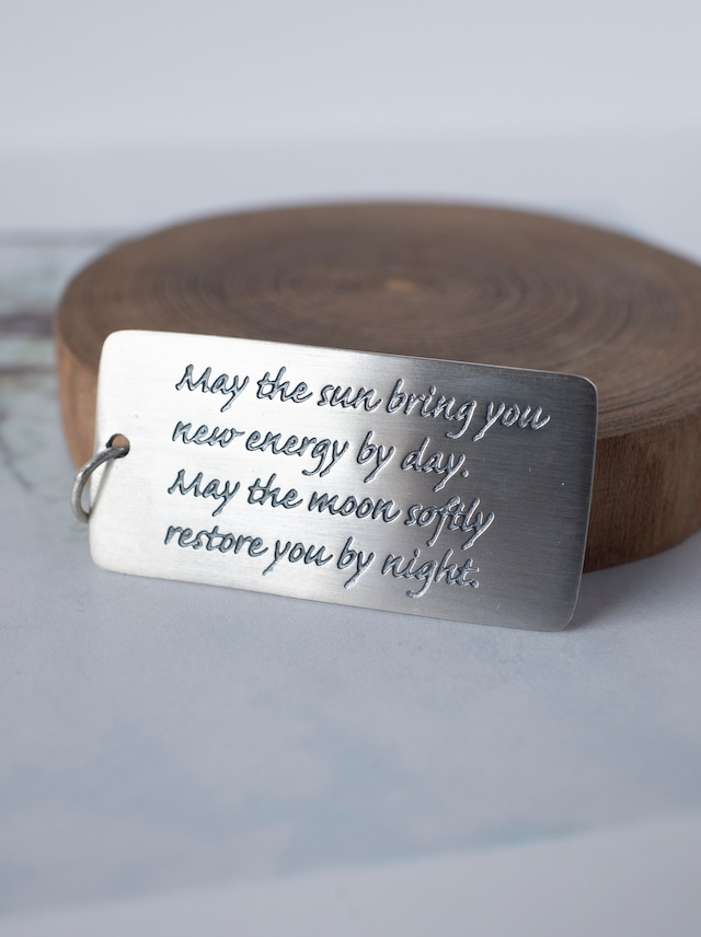 Message Plate Charm / Silver - 003