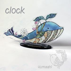 置時計 くじら : 海空くじら