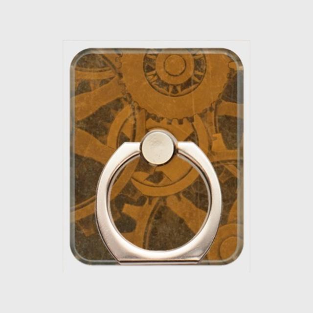 歯車スチームパンク(茶)/スマホリング