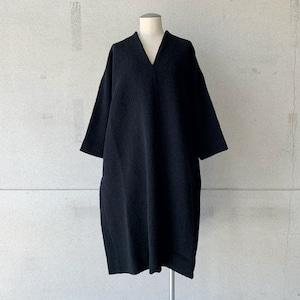 【COSMIC WONDER】Alpaca cupro v-necked dress/14CW17256