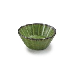 aito製作所 「翠 Sui」しょうゆ皿 花豆鉢 約6cm うぐいす 美濃焼 288216