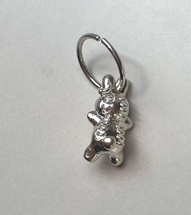 うさぎ earring hoop ® silver925 プレーン#LJ20049P  ダルメシアン#LJ20050P ゼブラ#LJ20051P ボディピアスLJ21048P