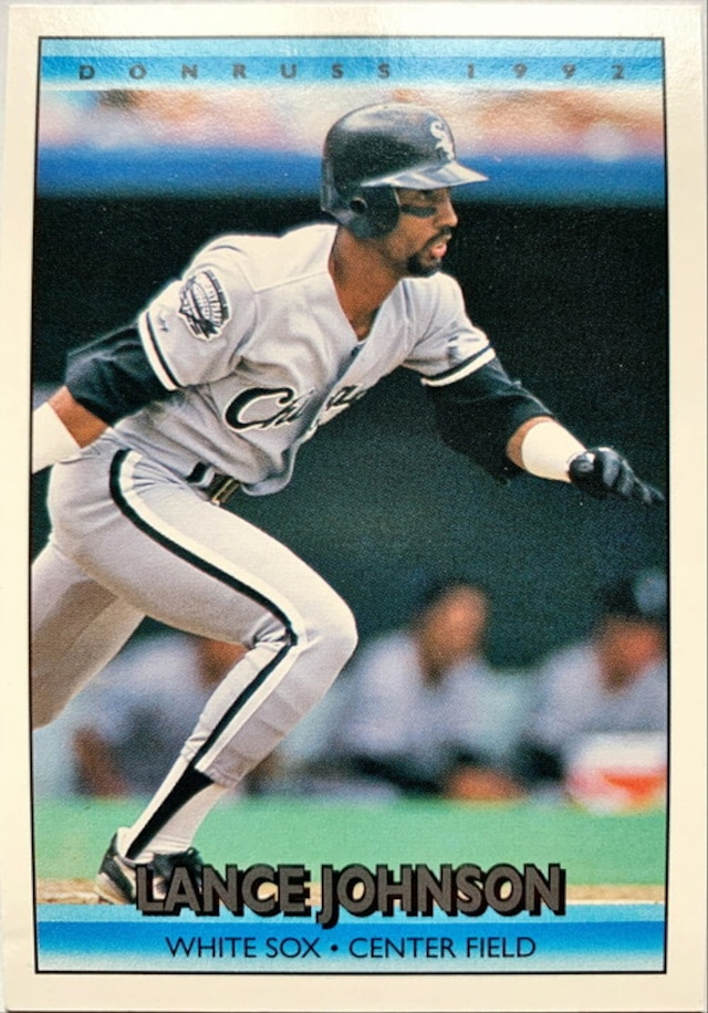 MLBカード 92DONRUSS Lance Johnson #267 WHITE SOX