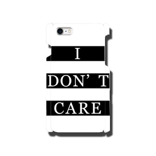 【送料無料】全42機種に対応 メッセージスマホカバー I DON'T CARE