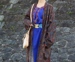 USA VINTAGE PAISLEY PATTERNED GOWN/アメリカ古着ペイズリー柄ガウン