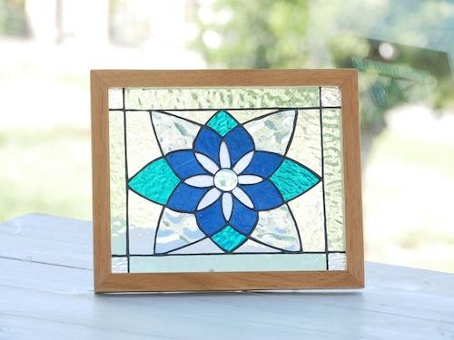 HK 青い花のパネル