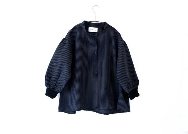 【21AW】ミチリコ(michirico) Stripe Shirts charcoal【F】シャツ
