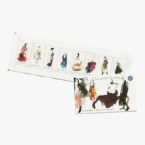 切手帳(未使用)「スウェーデンのモードファッション - 8枚構成(2007年発行)」