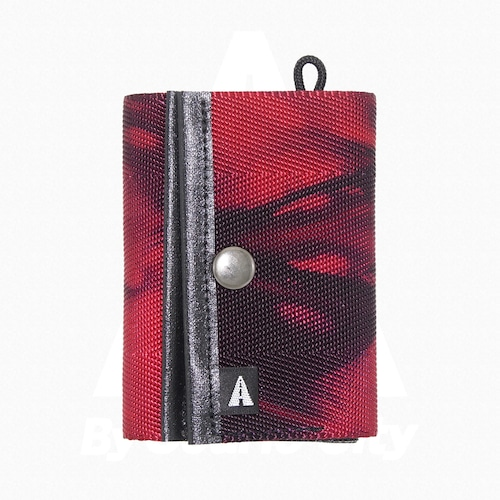 A WALLET (3つ折り財布)・Tie Dye(タイダイ) Red × Purple