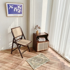 rattan holding chair / ラタン 折り畳み式 チェア ダイニング 椅子 韓国 北欧 インテリア 雑貨