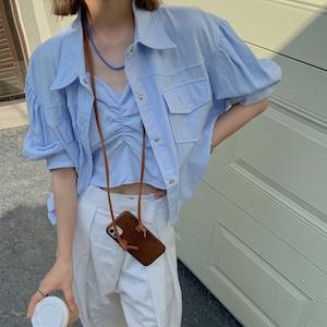 パフスリーブシャツ+キャミソールセット RD8731