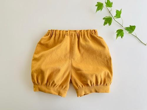 綿麻のかぼちゃパンツ・きつね色 無地 90cm