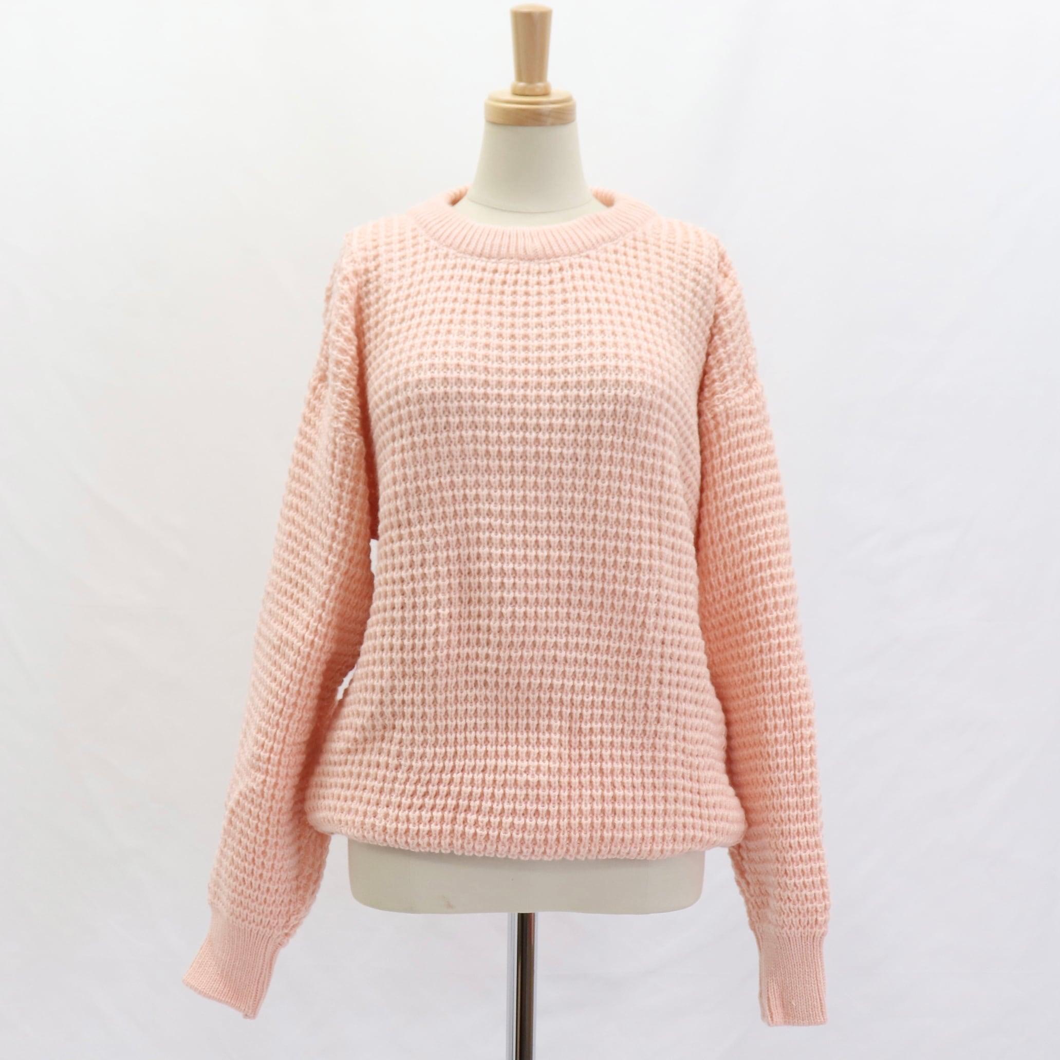 Dead Stock 80's Euro 【 MODZ】Knit Sweater 80年代 ユーロ イタリア デッドストック ニット セーター ピンク