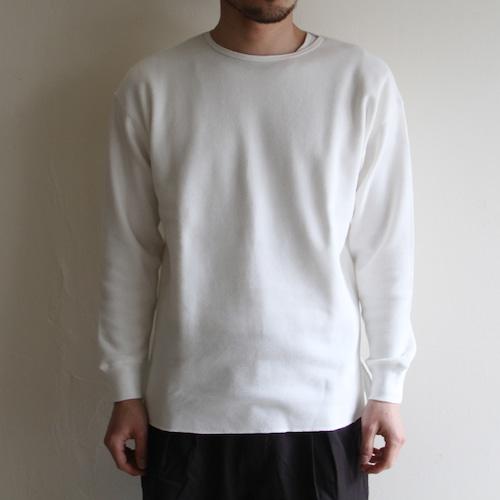 STILL BY HAND【 mens 】honeycomb long sleeve