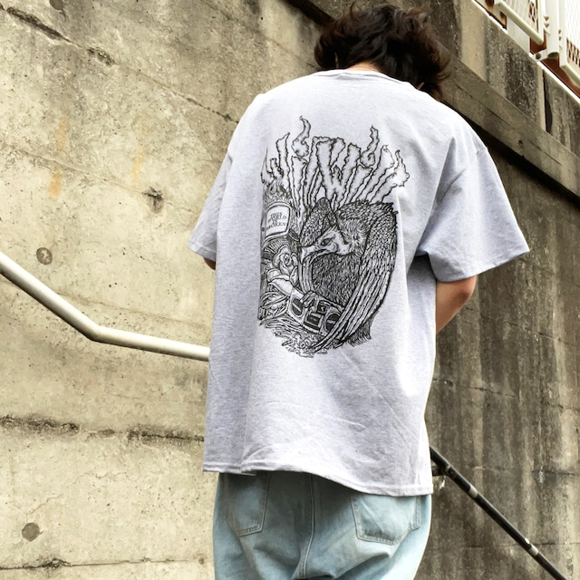 【WillxWill × Musollon】スペシャルコラボレーション Vulture T-shirts Gray