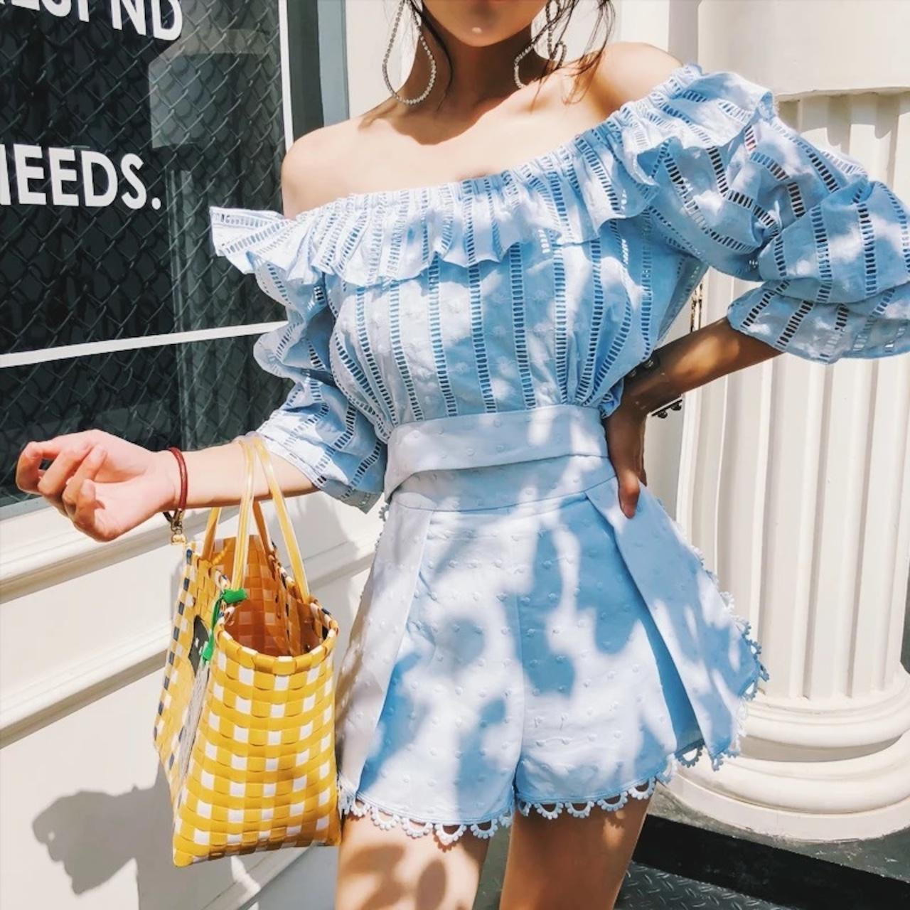 【即納】summer blue stripe set up