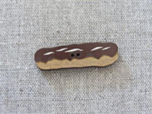 フランス製 木製ボタン アトリエ ボヌール ドゥ ジュール 【エクレア・チョコレート】