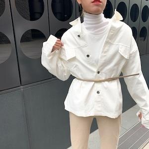 【即納】ホワイトシャツジャケット| ユニセックス シンプル 着回し