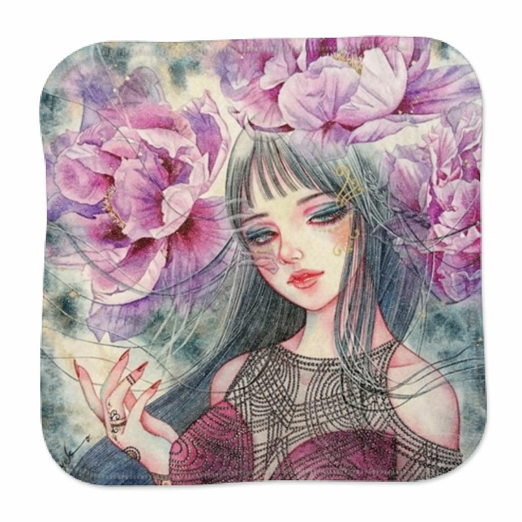 紫牡丹の姫君-ミニハンカチタオル