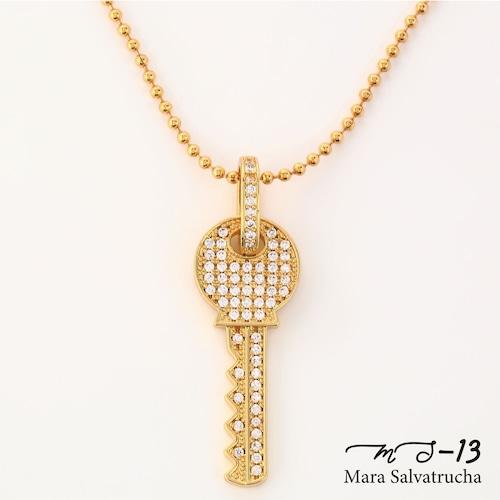 【MS-13】K18GP パヴェ キーネックレス(ゴールド)