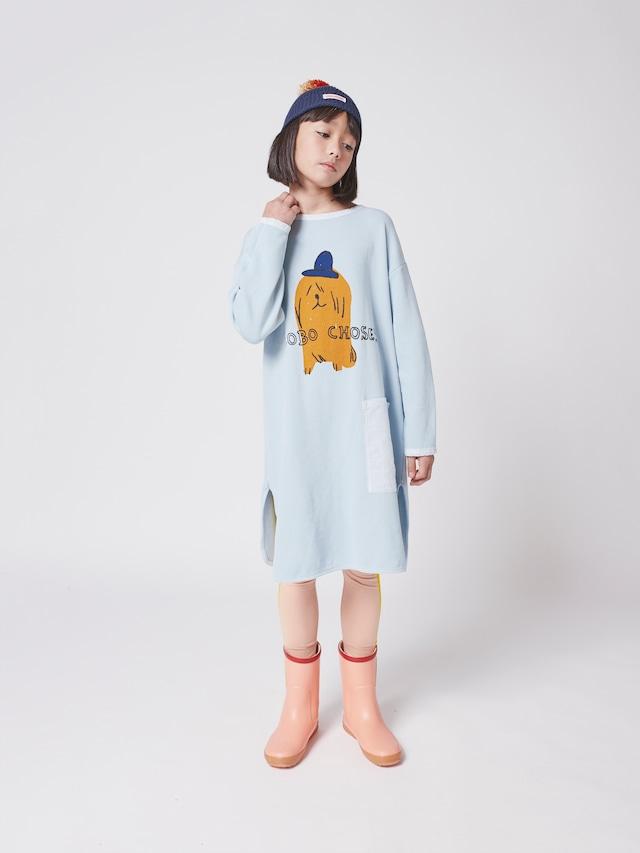 【21AW】bobochoses(ボボショセス)Dog In The Hat fleece dress ワンピース