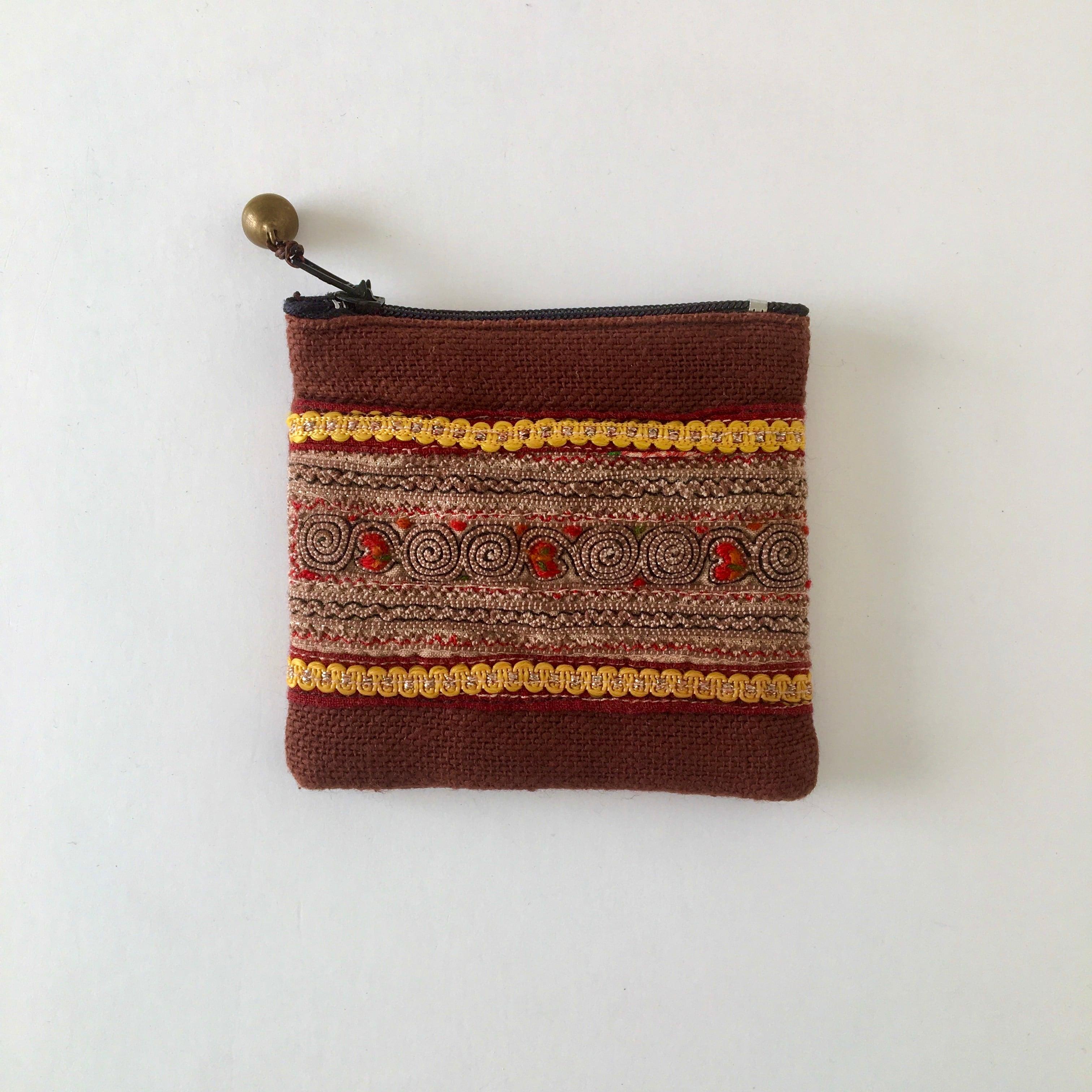モン族の刺繍のコインケース②|Hmong Embroidery Coin Purse