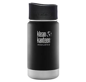 Klean Kanteen ワイドインスレートボトルカフェキャップ2.0 12oz シェールブラック