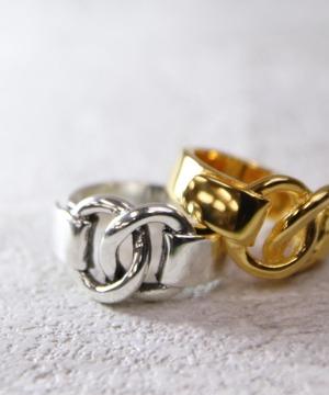 YRGV1803SVR00464【YArKA/ヤーカ】silver925 chain motif ring [pachi]/シルバー925 チェーンモチーフリング