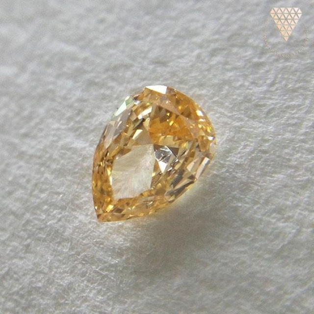 0.103 ct F.Int. Orange Yellow 天然 ダイヤモンド