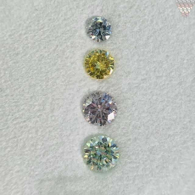 合計  0.62 ct 天然 カラー ダイヤモンド 4 ピース GIA  2 点 付 マルチスタイル / カラー FANCY DIAMOND 【DEF GIA MULTI】