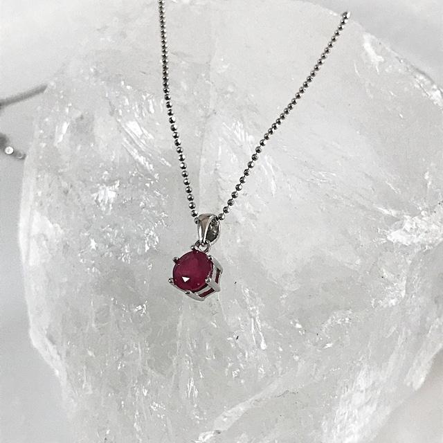 情熱のルビー ~宝石質ペンダントトップ