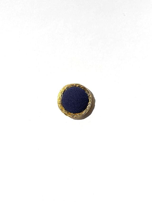 NAVY GOLD  - vintage parts button -
