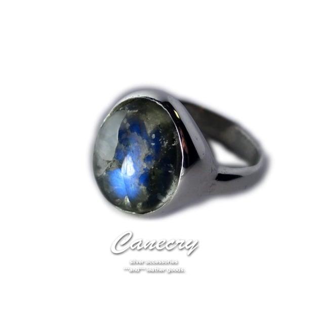 スペクトロ水晶のリング
