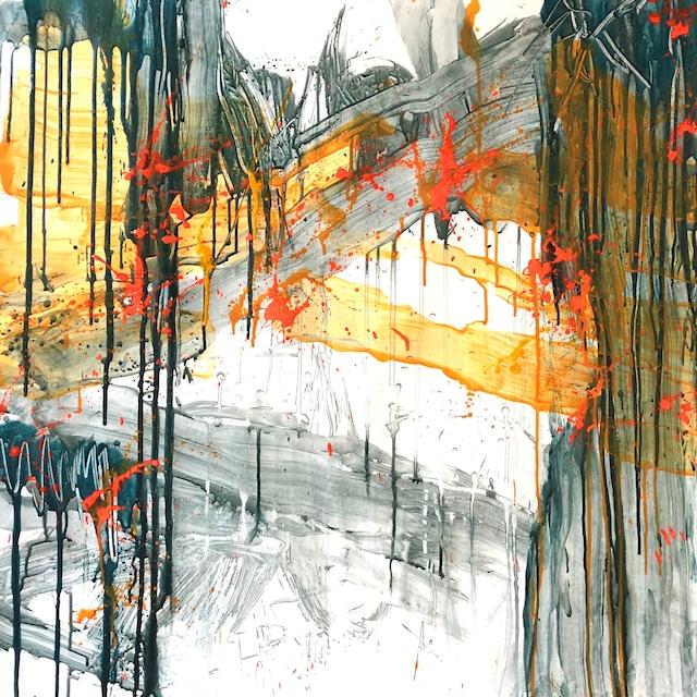 絵画 絵 ピクチャー 縁起画 モダン シェアハウス アートパネル アート art 14cm×14cm 一人暮らし 送料無料 インテリア 雑貨 壁掛け 置物 おしゃれ 抽象画 現代アート ロココロ 画家 : tamajapan 作品 : t-32