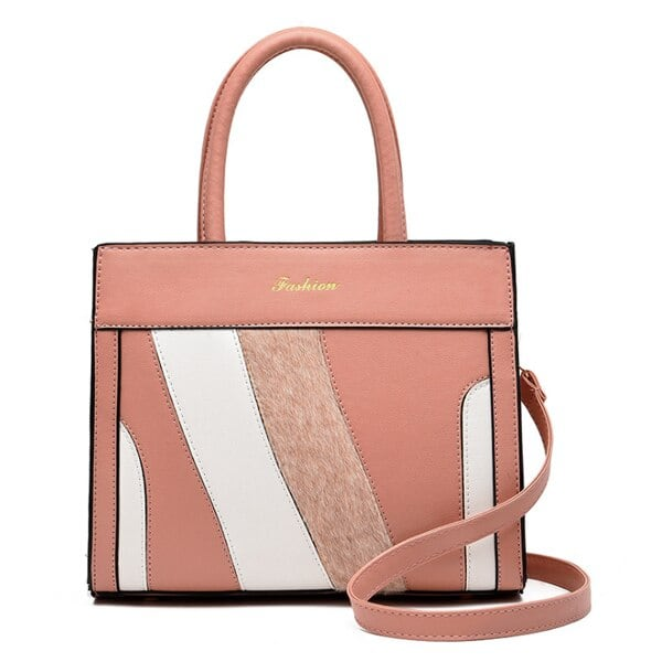 PUレザーバッグ カジュアルトートバッグ Pink