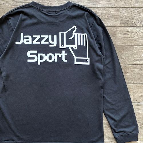 【残りわずか】JS ロゴ ロングスリーブ Tシャツ/ヴィンテージ・ブラック