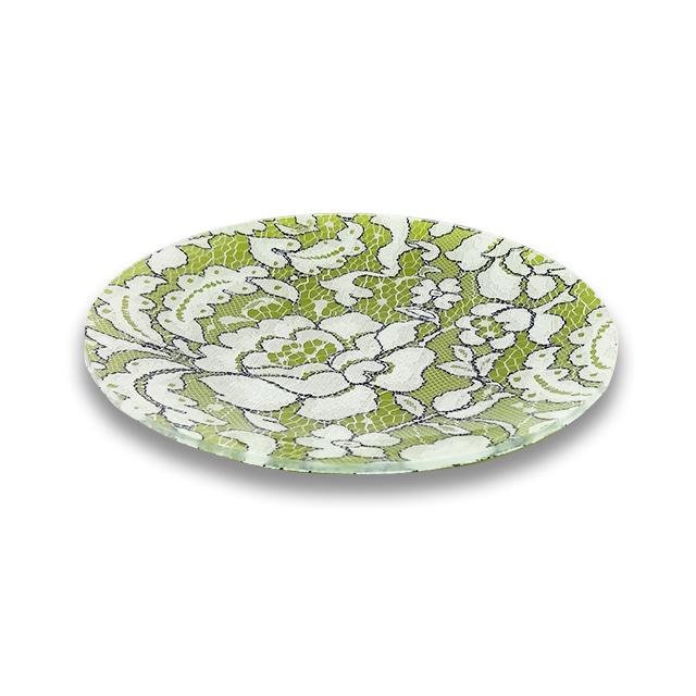 ガラストレー #82293 グリーン(20cm 丸皿)