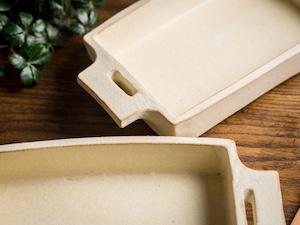 白化粧 長角 グラタン皿(耐熱皿・角皿・深皿)/吉永哲子