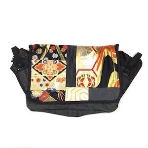 Vintage Kimono Messenger Bag  small【messenger15】
