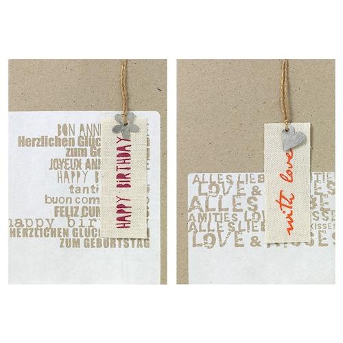 キャンバスのタグ付きカード