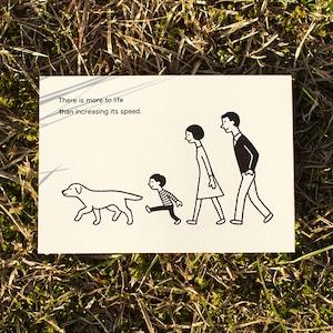 活版ポストカード 散歩