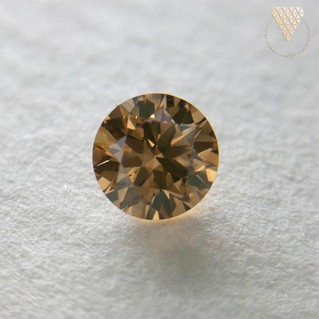 0.252 ct F.Or.Brown 天然 ブラウン ダイヤモンド