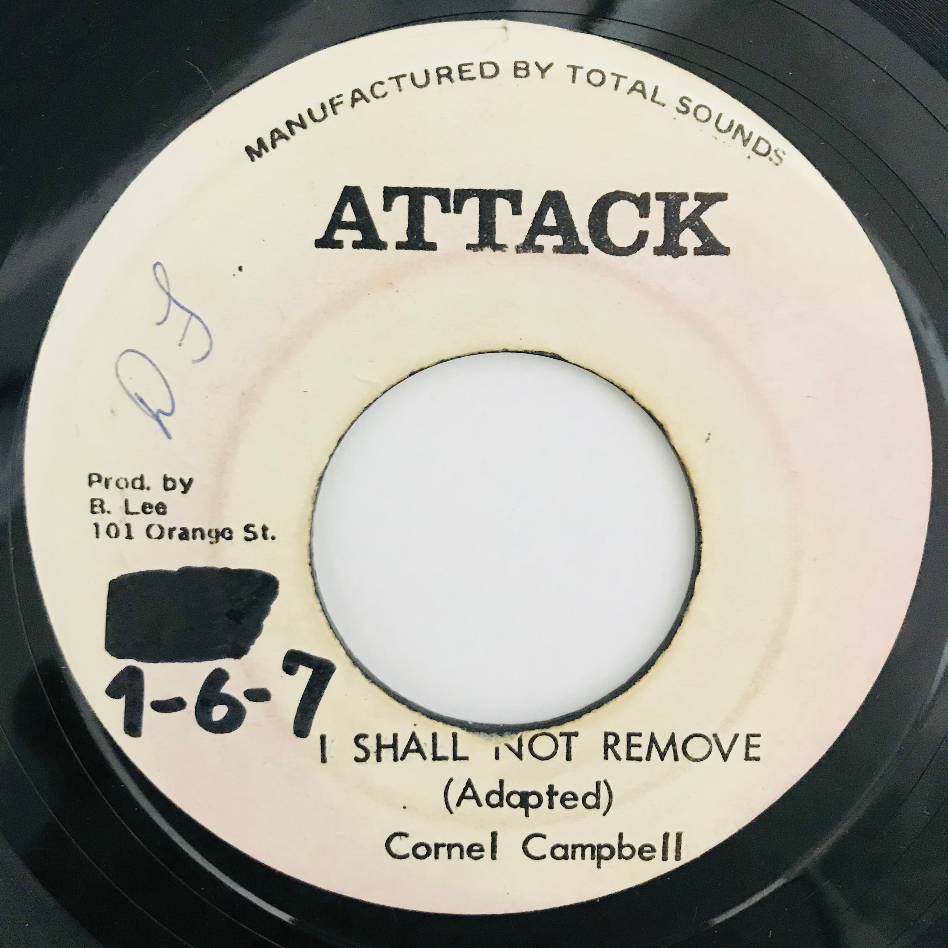 Cornel Campbell - I Shall Not Remove【7-10996】